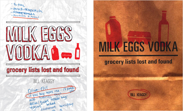 BOOK Milk Eggs Vodka At The Grocery List