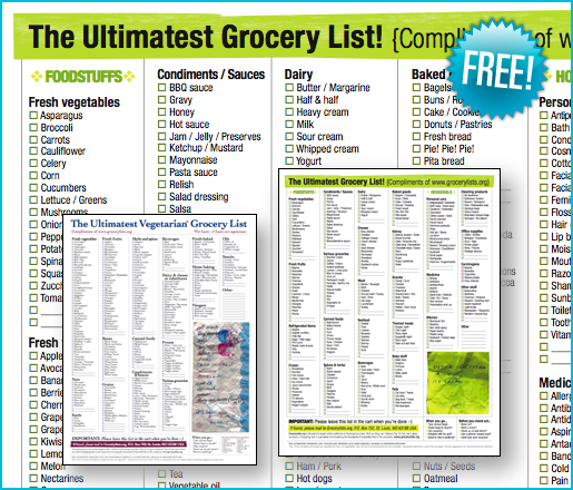 Printable Ultimate Grocery List