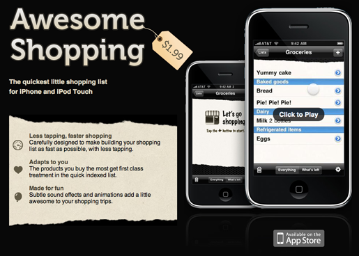 Free iPhone shopping list app, and more